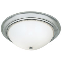 Soleil 2 Light 14 inch Chrome Flush Mount Ceiling Light