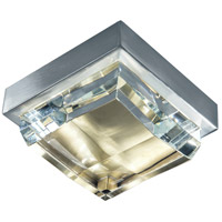 Norwell 5379-BNSB-CL Crystal LED 6 inch Brushed Nickel and Satin Brass Flush Mount Ceiling Light