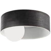 Centric LED 12 inch Grained Grey Flush Mount Ceiling Light