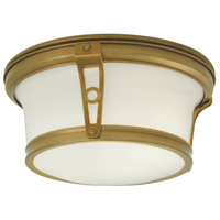 Norwell 5382-AG-SO Leah 2 Light 10 inch Aged Brass Indoor Flushmount Ceiling Light