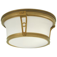 Norwell 5383-AG-SO Leah 2 Light 13 inch Aged Brass Indoor Flushmount Ceiling Light