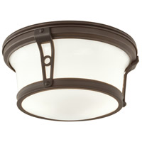 Norwell 5383-AR-SO Leah 2 Light 13 inch Architectural Bronze Indoor Flushmount Ceiling Light