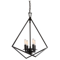 Norwell 5388-MB-NG Trapezoid Cage 4 Light 18 inch Matte Black Pendant Ceiling Light