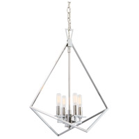Norwell 5388-PN-NG Trapezoid Cage 4 Light 18 inch Polished Nickel Pendant Ceiling Light