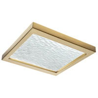 Norwell 5391-SB-WV For-Square LED 12 inch Satin Brass Flush Mount/Wall Mount Ceiling Light