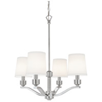 Roule 4 Light 22 inch Polished Nickel Chandelier Ceiling Light