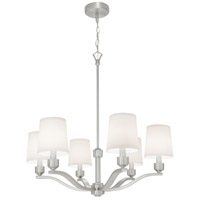 Roule 6 Light 28 inch Brushed Nickel Chandelier Ceiling Light