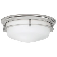 Galley 3 Light 16 inch Polished Nickel Flush Mount Ceiling Light