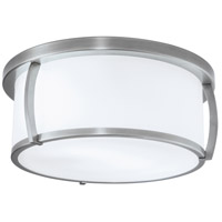 Brooklyn 3 Light 15 inch Brushed Nickel Flush Mount Ceiling Light