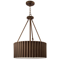 Metalique 4 Light 18 inch Burnished Bronze Pendant Ceiling Light