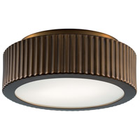 Roseau 2 Light 13 inch Architectural Bronze Flush Mount Ceiling Light, Small