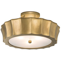 Isabel 4 Light 20 inch Antique Brass Semi-Flush Mount Ceiling Light