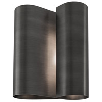 Curl 2 Light 9 inch Brushed Pewter Sconce Wall Light