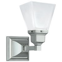 Norwell 8121-BN-SQ Birmingham 1 Light 5 inch Brushed Nickel Wall Sconce Wall Light in Square