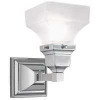 Norwell 8121-CH-PY Birmingham 1 Light 5 inch Chrome Wall Sconce Wall Light in Pyramid
