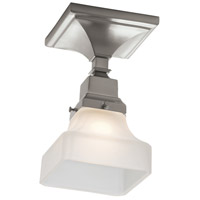 Birmingham 1 Light 5 inch Brushed Nickel Flush Mount Ceiling Light in Pyramid