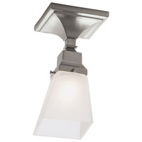 Norwell 8121F-BN-SQ Birmingham 1 Light 5 inch Brushed Nickel Indoor Flushmount Ceiling Light in Square