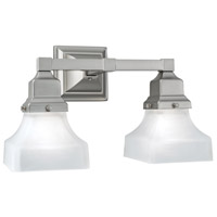 Norwell 8122-BN-PY Birmingham 2 Light 14 inch Brushed Nickel Wall Sconce Wall Light in Pyramid