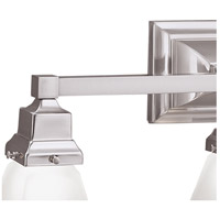 Norwell 8122-BN-SQ Birmingham 2 Light 14 inch Brushed Nickel Wall Sconce Wall Light in Square
