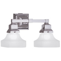 Birmingham 2 Light 14 inch Chrome Sconce Wall Light in Pyramid