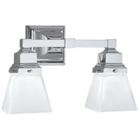 Norwell 8122-CH-SQ Birmingham 2 Light 14 inch Chrome Wall Sconce Wall Light in Square