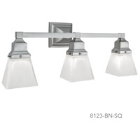 Birmingham 3 Light 22 inch Brushed Nickel Sconce Wall Light in Square
