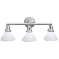 Norwell 8126-CH-SO Coventry 3 Light 24 inch Chrome Wall Sconce Wall Light