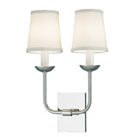 Circa 2 Light 9 inch Polished Nickel Wall Sconce Wall Light