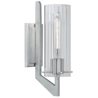 Norwell 8143-BN-CL Faceted 1 Light 4 inch Brushed Nickel ADA Wall Sconce Wall Light