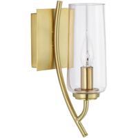 Norwell 8153-SB-CL Tulip 1 Light 5 inch Satin Brass Sconce Wall Light