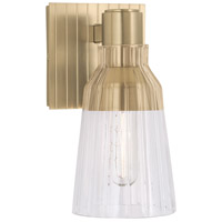 Norwell 8157-SB-CL Carnival 1 Light 4 inch Satin Brass Sconce Wall Light