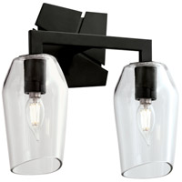 Norwell 8162-MB-CL Gaia 2 Light 12 inch Acid Dipped Black Sconce Wall Light