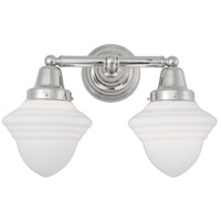 Norwell 8202-PN-AC Bradford 2 Light 16 inch Polished Nickel Wall Sconce Wall Light