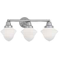 Norwell 8203-BN-AC Bradford 3 Light 24 inch Brushed Nickel Wall Sconce Wall Light