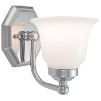 Norwell 8318-CH-DO Trevi 1 Light 6 inch Chrome Sconce Wall Light in Double Opal