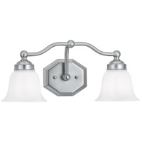 Norwell 8319-BN-DO Trevi 2 Light 17 inch Brushed Nickel Wall Sconce Wall Light in Double Opal