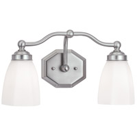 Norwell 8319-BN-HXO Trevi 2 Light 17 inch Brushed Nickel Wall Sconce Wall Light in Hexagonal Opal