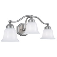 Norwell 8320L-BN-DO Trevi 3 Light 22 inch Brushed Nickel Wall Sconce Wall Light in Double Opal