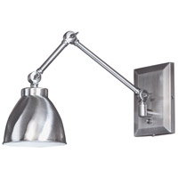 Norwell 8471-PW-MS Maggie 100 watt Pewter Swing Arm Sconce Wall Light in Bowl Metal