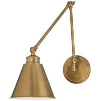 Aidan 1 Light 8 inch Aged Brass Sconce Wall Light, Moveable