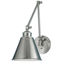 Aidan 1 Light 8 inch Brushed Nickel Sconce Wall Light, Moveable