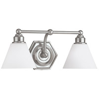 Norwell 8532-BN-OP Jenna 2 Light 18 inch Brushed Nickel Wall Sconce Wall Light