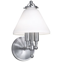 Lenox 2 Light 8 inch Brushed Nickel Sconce Wall Light