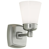 Soft Square 1 Light 5 inch Brushed Nickel Sconce Wall Light
