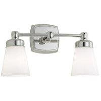 Soft Square 2 Light 16 inch Chrome Sconce Wall Light