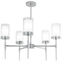 Norwell 8971-PN-CL Kimberly 5 Light 27 inch Polished Nickel Pendant Ceiling Light