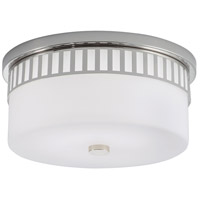 Astro LED 14 inch Polished Nickel Flush Mount Ceiling Light