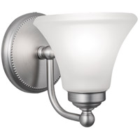 Soleil 1 Light 7 inch Brushed Nickel Sconce Wall Light