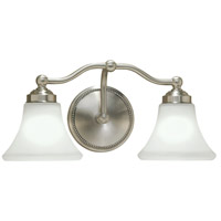 Norwell 9662-BN-FL Soleil 2 Light 18 inch Brushed Nickel Sconce Wall Light
