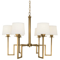 Maya 6 Light 30 inch Aged Brass Chandelier Ceiling Light, 6 Arm